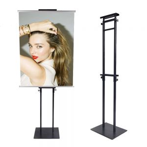 Adjustable Poster Splint Sign Stand with Double-sided Sign Holder