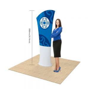 Allure Fabric Tension Banner Stands-Oblique Angle(Graphic Included/Double Sided)