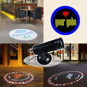 High Quality 10W LED Static Gobo Advertising Logo Projector Light (1 Light + 1 Three Colors Film)