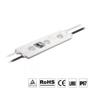 AC110V No Power Supply Required SMD 2835 IP67 Waterproof LED Module (3 LEDs, 2.5W,L110 x W28 x H8.5mm White Light) 18pcs/㎡