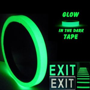 """2"""" x 30ft Sticky Tape Self Adhesive Luminous Safety Film Sticker Roll, 4 Hours Glow in the Dark"""