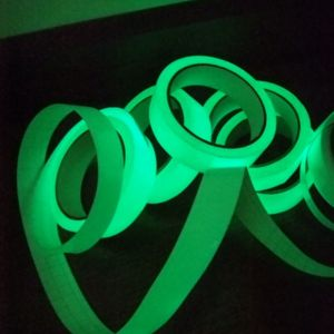 """2"""" x 30ft Printable Sticky Tape Self Adhesive Luminous Safety Film Sticker Roll, 10 Hours Glow In the Dark"""