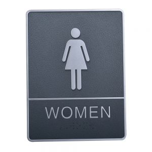 Female, Toilet, Restroom Signs With Braille, ABS New Material