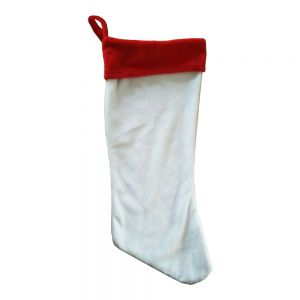 Super Style Blank Sublimation Christmas Stockings Soft Plush Decoration Socks for Xmas Holiday