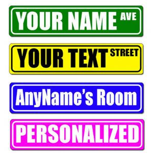 "Custom Street Sign - Make Your Own Street Sign, 4"" x 18"""