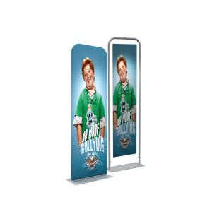 """24"""" Silver EZ Tube Banner Stand with Custom Printing Graphic"""