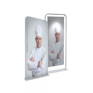 "36"" Silver EZ Tube Banner Stand with Custom Printing Graphic"