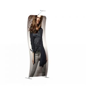 """90"""" Height Snake Banner Stand with Custom Printing Dye-sublimation Graphic"""