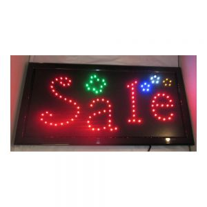 "New LED Sign - ""Sale"" with Flashing Colors"