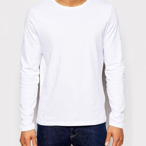 Blank Heat Transfer Long Sleeve T-Shirts Pure Cotton T-Shirts for Men