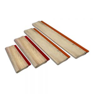 "4 pcs Silk Screen Printing Squeegee Ink Scraper 6.3"" / 9.4"" / 13"" / 18"" Scratch Board 75 Durometer"