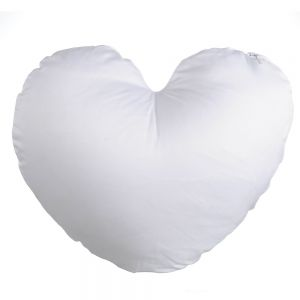 Plain White Heart Shape Sublimation Blank Pillow Case Fashion Cushion Cover