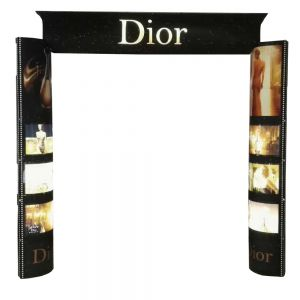 Quick Installation and Paper ECO Arched Door Banner with Light Box for Display