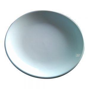 "7"" Blank Sublimation White Moon Plate Full Printing Ceramic Plate"