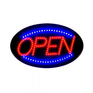 "10pcs 19"" x 10"" Ultra Bright LED Neon Light Animated Motion Open Business Sign"