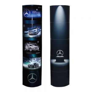 ECO Foldable Quick Installation Paper Bespoke Graphics Four-layer Light Box Cardboard Column for Promotion High Quality