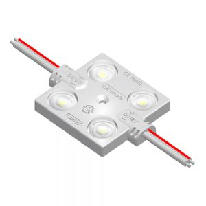 Ving UL SMD 2835 Waterproof LED Module (4 LEDs, white Light, 1.44 W, L46 x W36.5 x H7mm) Suitable for 8-25cm Sign Words, Advertising Light Box