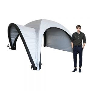 10ft Inflatable Tent with One Side Panel and Awning Outdoor Custom Graphic Spider Air Dome Tent