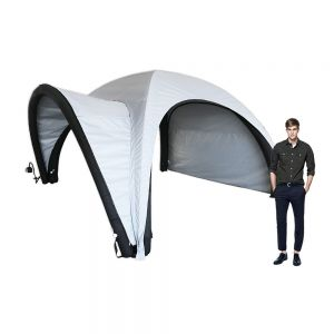 13ft Inflatable Tent with One Side Panel and Awning Outdoor Custom Graphic Spider Air Dome Tent