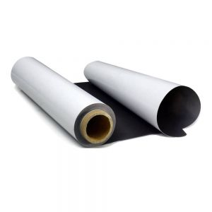 "36""(0.914m*30m) Printing Media Solvent PET Steel Roll Film Magnetic Receptive"