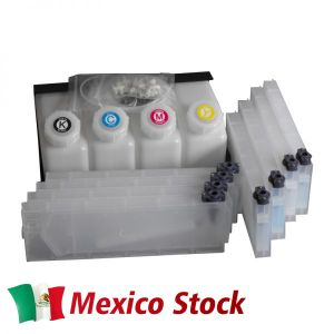Mexico Stock-Roland Mimaki Mutoh Bulk Ink System-4 Bottles, 8 Cartridges