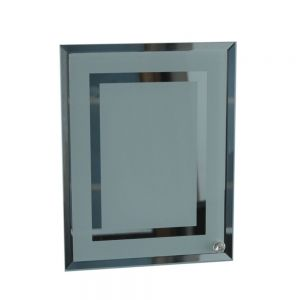 "8"" Sublimation Blank Glass Photo Frame  Double Mirror Border"