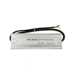 150W AC100V-240V to DC 24V 6.3A Waterproof Metal Shell LED Power Supply Transformer Driver(for LED Module/LED Strip/LED Bar)