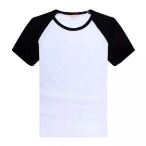 Screen Printing Blank Raglan Combed Cotton T-Shirt with Colorful Sleeve for Children,10pcs/pack