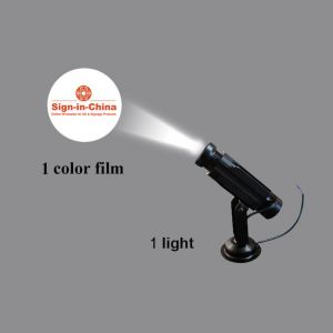 High Quality 20W LED Static Gobo Advertising Logo Projector Light  (with Custom Glass Gobos)