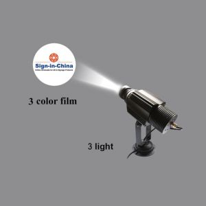 High Quality  20W LED Static Gobo Outdoor Advertising Logo Projector Light (Three Color)