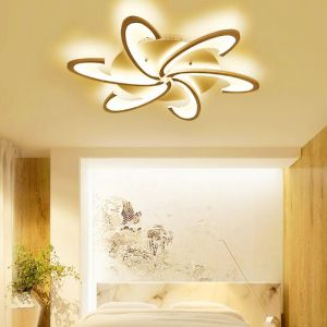 Modern LED White Acrylic Ceiling Lights for Living Room Bedroom Chandelier Hot 6 Heads