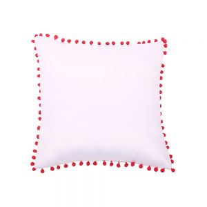 Sublimation Blank Pillow Case with Dot Edge Pattern Cushion Cover