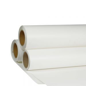 "Mexico Stock,24"" x 98´ Roll White Color Print and Cut Heat Transfer Vinyl For T-shirt Fabric"