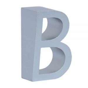 US Stock, House Address Numbers Door Metal Sign Letter A Stylish Design Metal Letters for Signs 6cm Silver