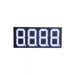 "10"" LED Gas Station Electronic Fuel Price Sign White Color Motel Price Sign"