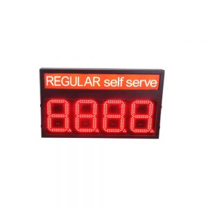 """6"""" LED Gas Station Electronic Fuel Price Sign Red Color Motel Price Sign Regular"""