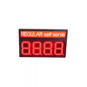 """8"""" LED Gas Station Electronic Fuel Price Sign Red Color Motel Price Sign Regular"""