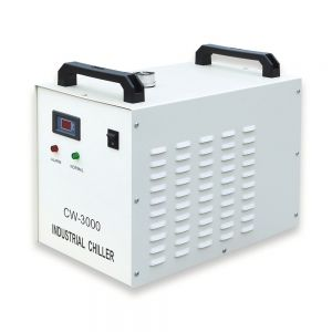 S&A CW-3000DG Thermolysis Industrial Water Chiller (AC110V, 60Hz) for Laser Engraver with 60W / 80W CO2 Glass Tube
