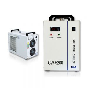 S&A AC220V 60Hz 0.68HP CW-5200BI Industrial Water Chiller (Cooling for One 50W Laser Diode, 15W-30W Solid-state Laser or 30W RF Laser Tube)