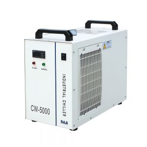 US Stock, S&A CW-5000DG Industrial Water Chiller (AC 1P 110V 60Hz) for 80W/100W/120W CO2 Glass Laser Tube Cooling, 0.41HP