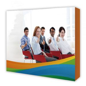 8ft Straight Tension Fabric Pop Up Display Backdrop Stand Trade Show Exhibition Booth and Walls with Single Sided Graphic