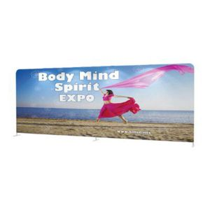 US Stock - 20ft High Quality Portable Tension Fabric Exhibition Stand Backdrop Advertising Wall Banner (Graphic Included/Single Sided)