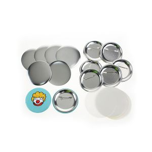 """1000pcs 2-1/4"""" (58mm) Blank Pin Badge Button Supplies for N3 Model Badge Making Machine"""