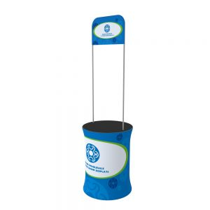 Circle Fabric Tension Promotion Counter with Custom Graphic