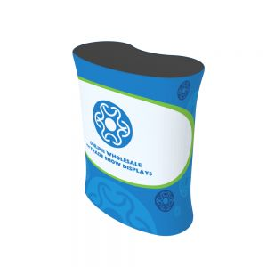 Curved Fabric Tension Counter with Custom Graphic