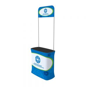 Rectangle Fabric Tension Promotion Counter with Custom Graphic