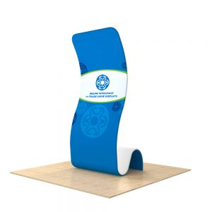 Snake Fabric Tension Display Stands (Graphic Included/Single Sided)
