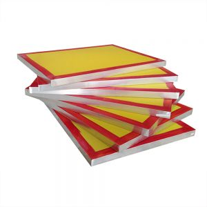 "6 Pcs - 20"" x 24""Aluminum Screen Printing Screens with 255 Yellow Mesh Count (Tubing:1.5""x 1.5"")"