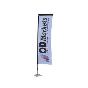 10.8ft Pole with Water Bag Square Flag Banner Stand