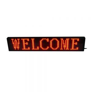 """30"""" x 6"""" Indoor 2 Lines LED Scrolling Sign (Tricolor or Single Color)"""